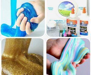 Slime Yapılışı, renkli ve simli slime