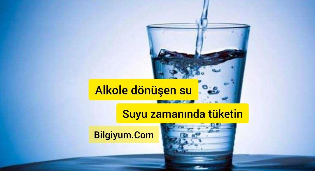 Alkole dönüşen su (Suyu zamanında için)