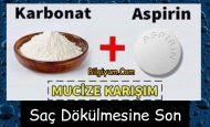 Karbonat ve Aspirin (Saç Dökülmesi çözümü)