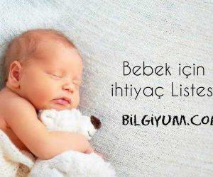 Bebek için ihtiyaç listesi